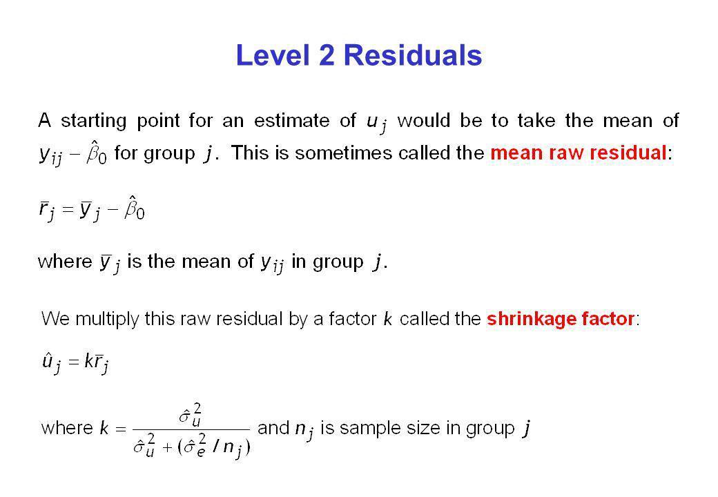 Level 2 Residuals