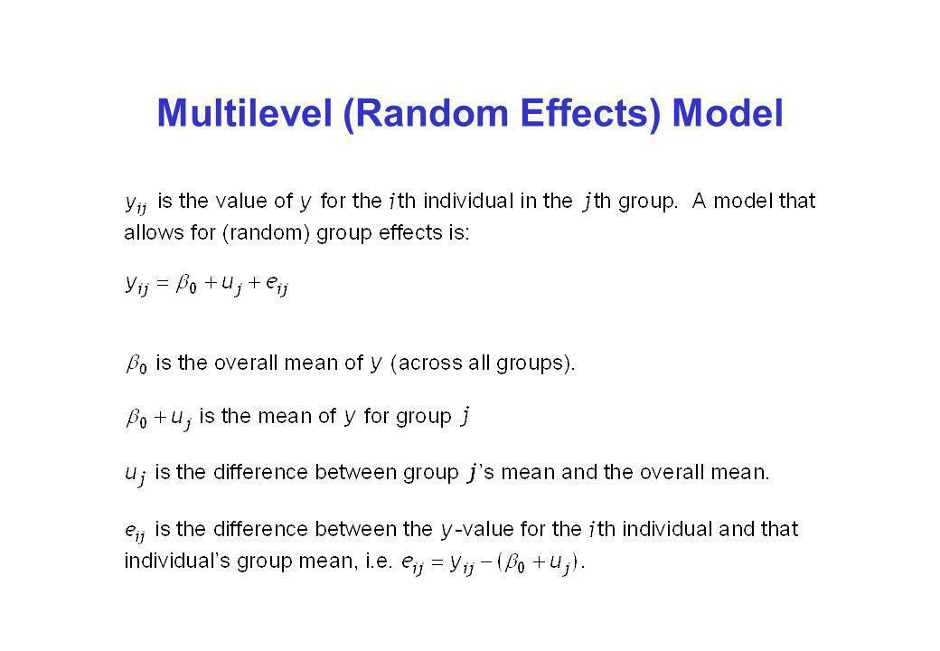 Multilevel (Random Effects) Model