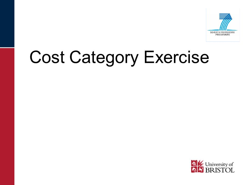 Cost Category Exercise