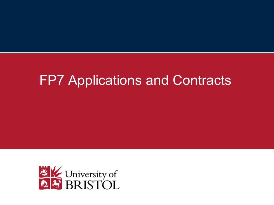 FP7 Applications and Contracts