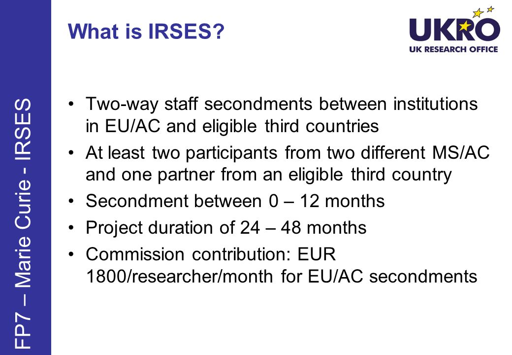 What is IRSES.
