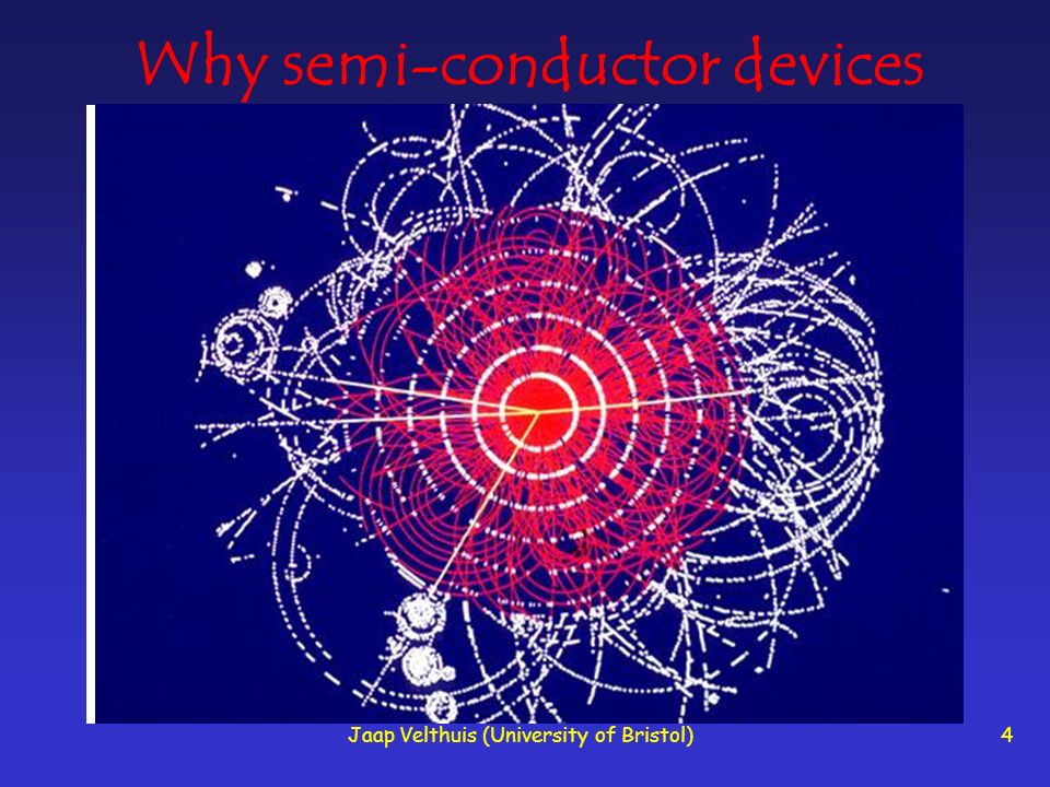 Jaap Velthuis (University of Bristol)4 Why semi-conductor devices