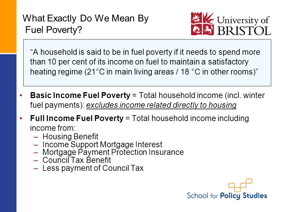 What Exactly Do We Mean By Fuel Poverty.