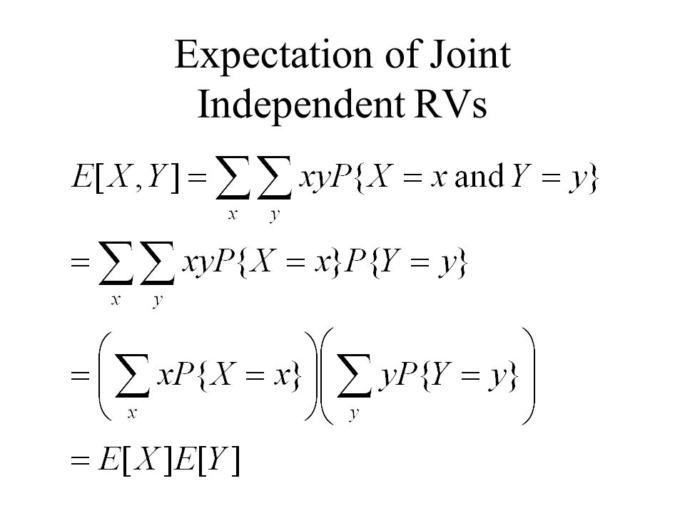 Expectation of Joint Independent RVs