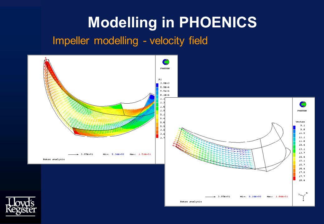 Modelling in PHOENICS Impeller modelling - velocity field