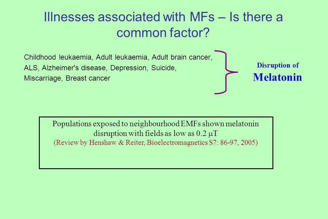 Illnesses associated with MFs – Is there a common factor.