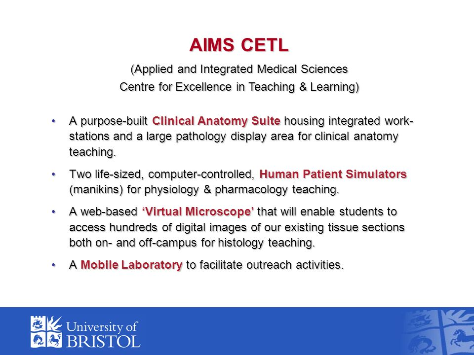 A purpose-built Clinical Anatomy Suite housing integrated work- stations and a large pathology display area for clinical anatomy teaching. A purpose-b