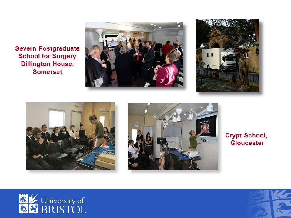 Severn Postgraduate School for Surgery Dillington House, Somerset Crypt School, Gloucester