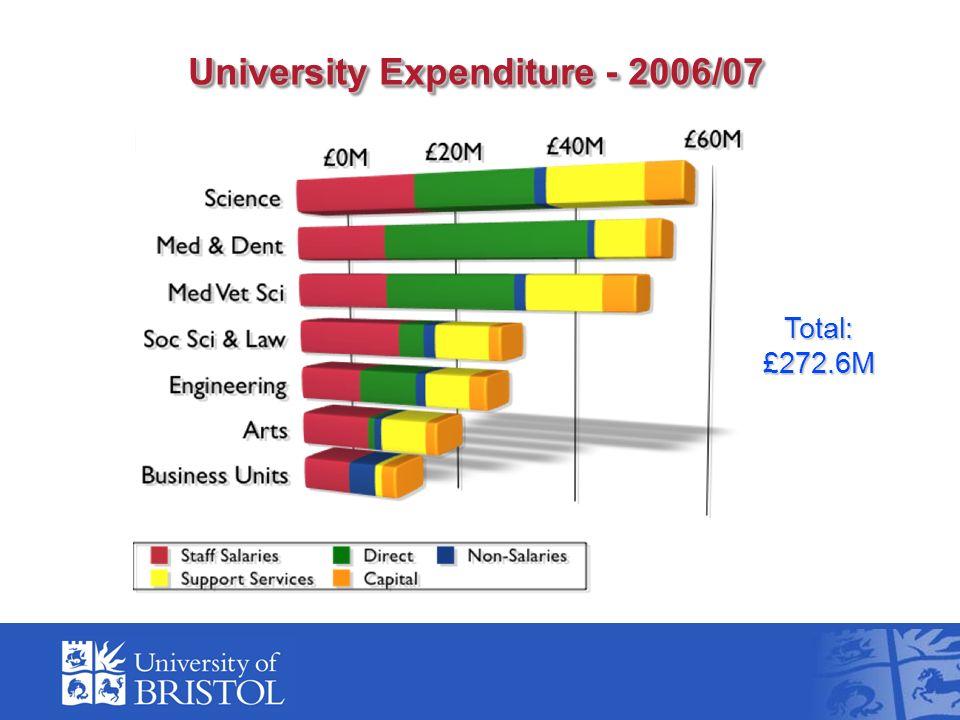 University Expenditure - 2006/07 Total:£272.6M