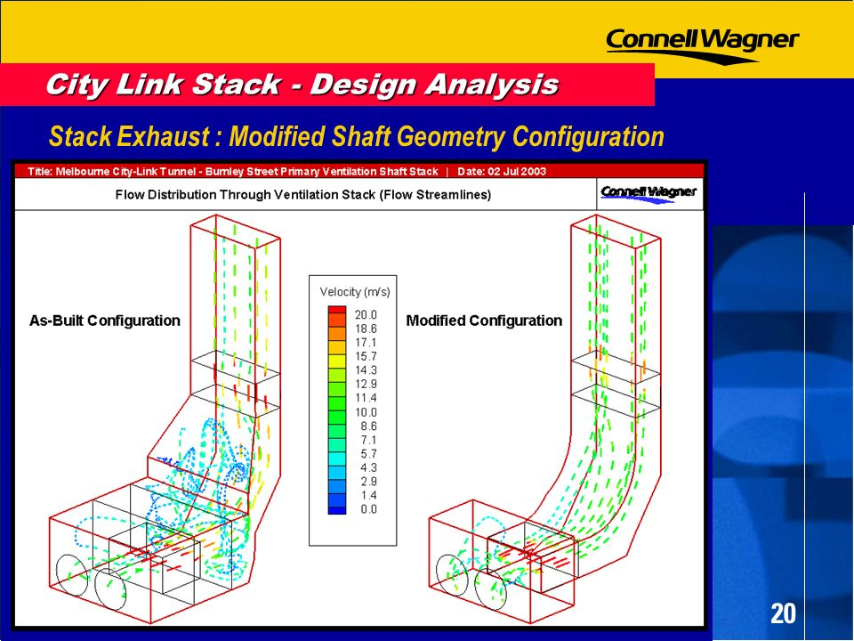 20 Stack Exhaust : Modified Shaft Geometry Configuration City Link Stack - Design Analysis