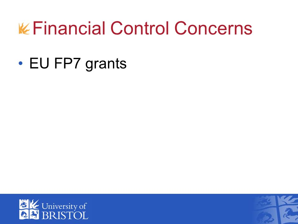 Financial Control Concerns EU FP7 grants
