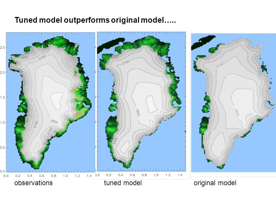 Tuned model outperforms original model….. observationstuned modeloriginal model