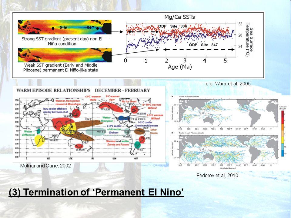 (3) Termination of Permanent El Nino e.g.