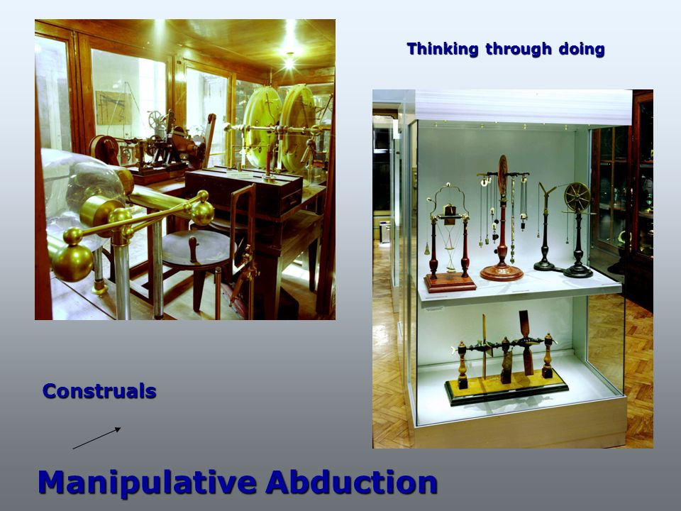 Manipulative Abduction Construals Thinking through doing