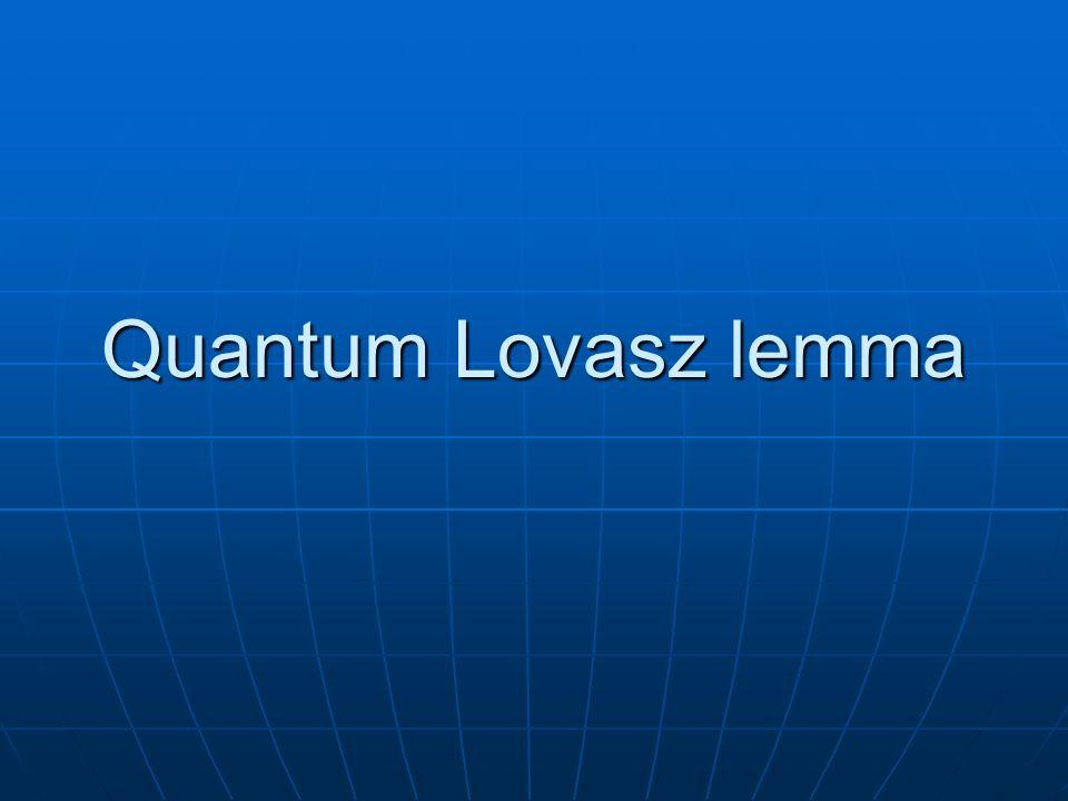 Quantum Lovasz lemma