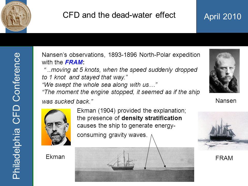 April 2010 Philadelphia CFD Conference Concluding remarks: 1.