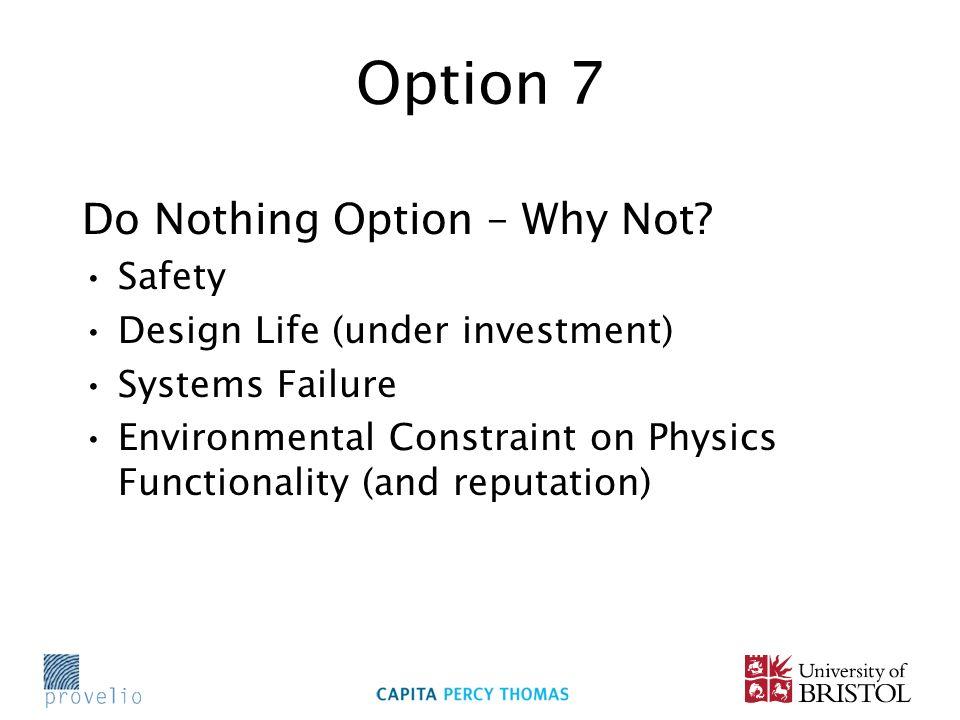 Option 7 Do Nothing Option – Why Not.