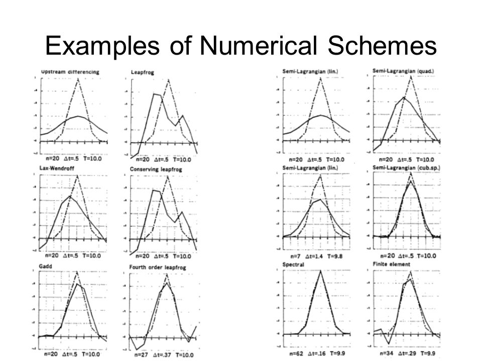 Examples of Numerical Schemes