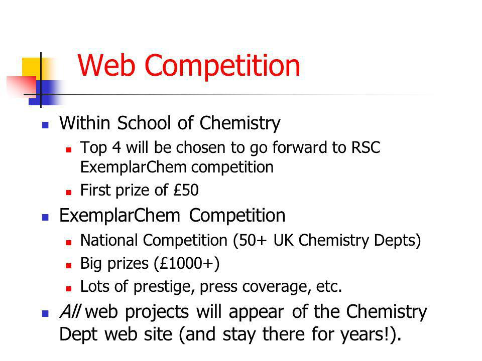 What do you have to do.Write a set of web pages (maybe 10 or so) about a Chemical theme.