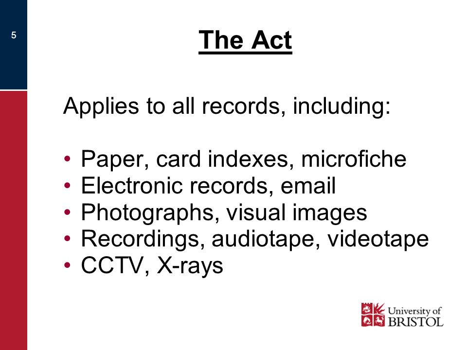 6 Processing Applies to anything that can be done to records including: obtaining/recording holding disclosing/publishing typing/writing destroying/disposing