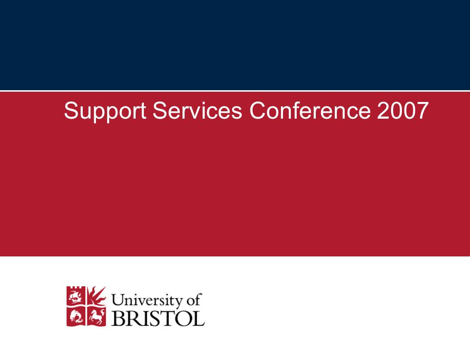 Support Services Conference 2007