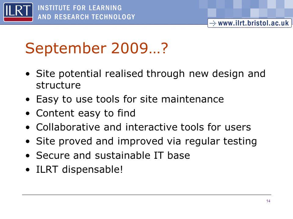 14 September 2009….