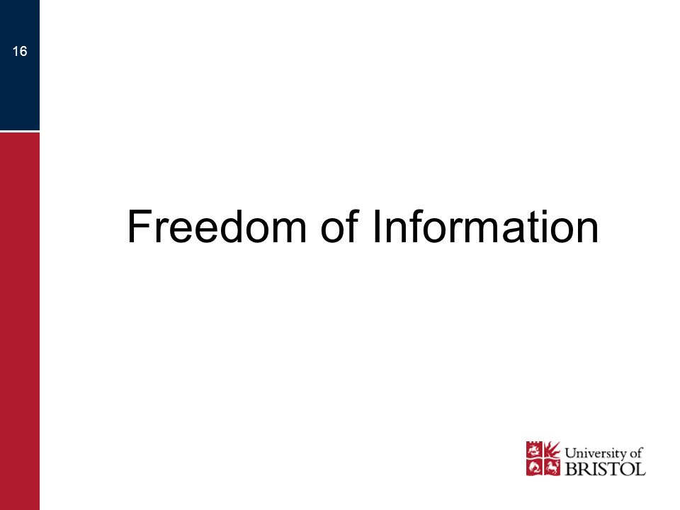 16 Freedom of Information