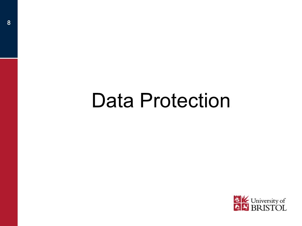 8 Data Protection