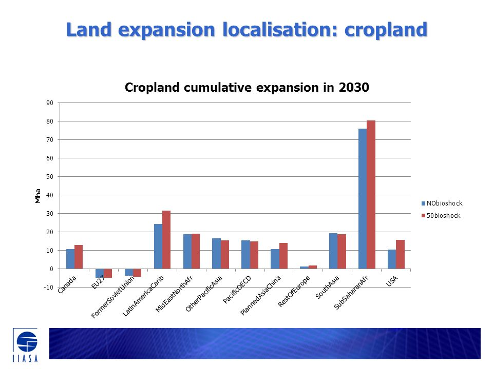 Land expansion localisation: cropland