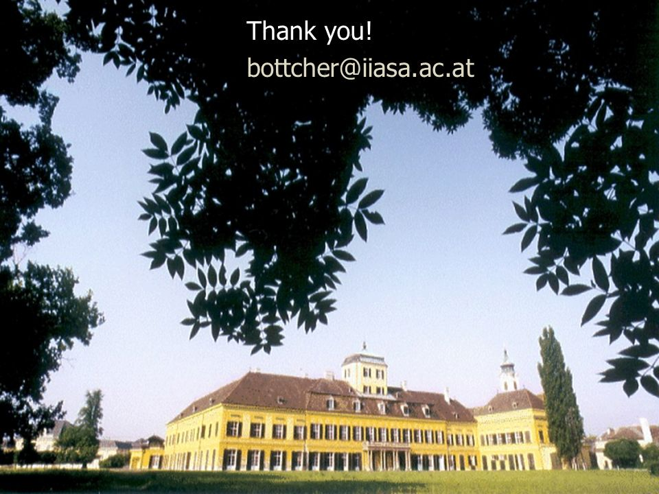 Thank you! bottcher@iiasa.ac.at