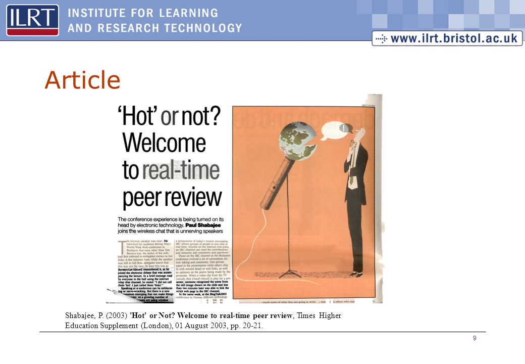 9 Article Shabajee, P. (2003) Hot or Not.