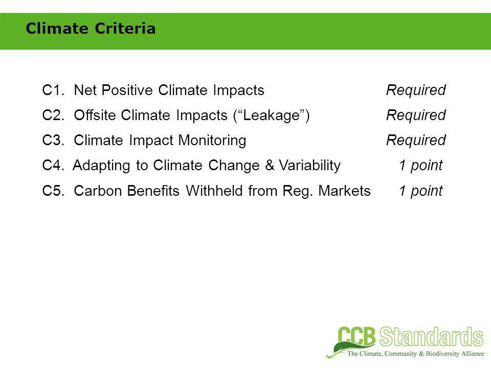 CM1.Net Positive Community ImpactsRequired CM2. Offsite Community ImpactsRequired CM3.