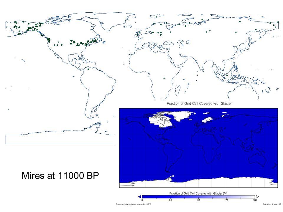 Mires at 11000 BP
