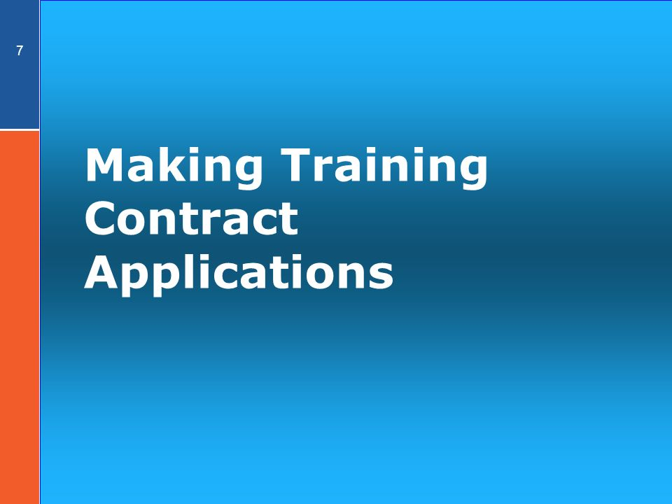 7 Making Training Contract Applications