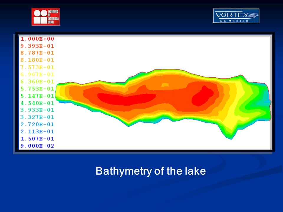 Bathymetry of the lake