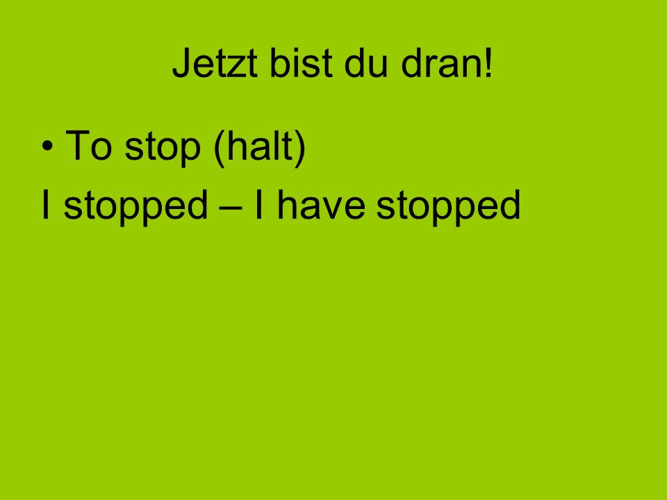 To arrive – ankommen* v irreg sep Look up Past Participle of kommen = gekommen. Add the separable prefix: an Answer: ich bin angekommen