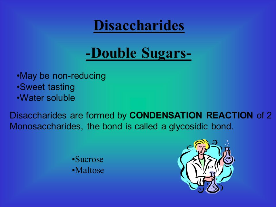 Monosaccharides -Single Sugar- These are the basic building blocks of other carbohydrates of which are the reducing sugars: Glucose Fructose The Formu