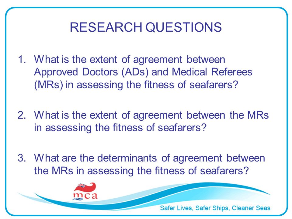 METHODS Seafarer Medical Review- Medical Referees Report (MSF 4108) forms were collected for the period between May 2003 and May 2009.
