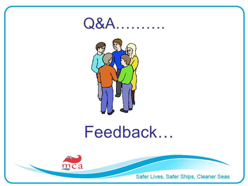 Q&A………. Feedback…
