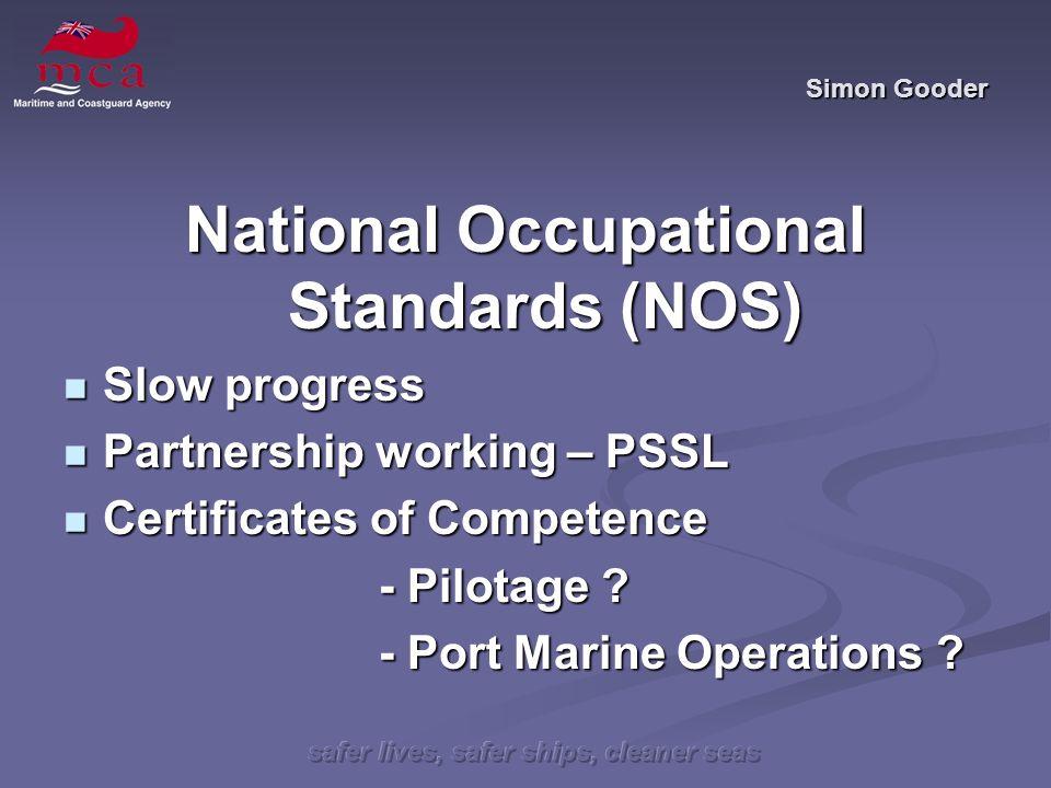 safer lives, safer ships, cleaner seas Simon Gooder PMSC Overview Progress is being made, albeit slowly.