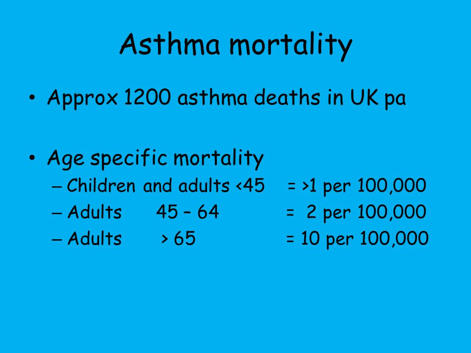 Where do asthmatics work? Altitude Offshore Polar regions
