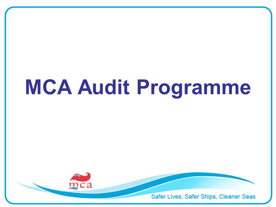 MCA Audit Programme