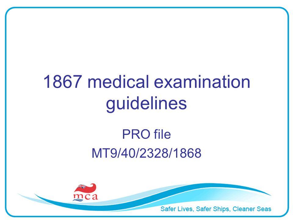1867 medical examination guidelines PRO file MT9/40/2328/1868