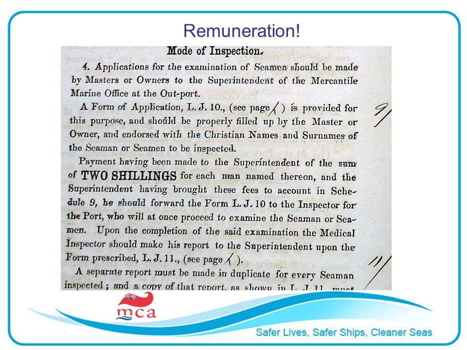 Remuneration!