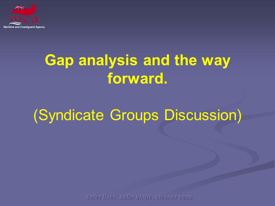Gap analysis and the way forward. (Syndicate Groups Discussion)
