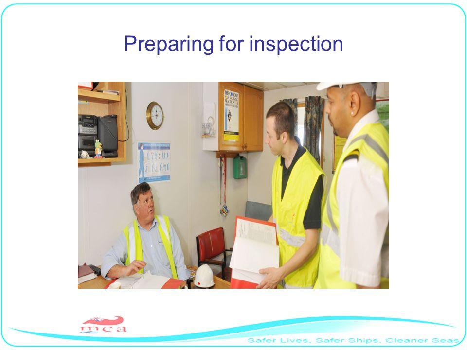 Preparing for inspection