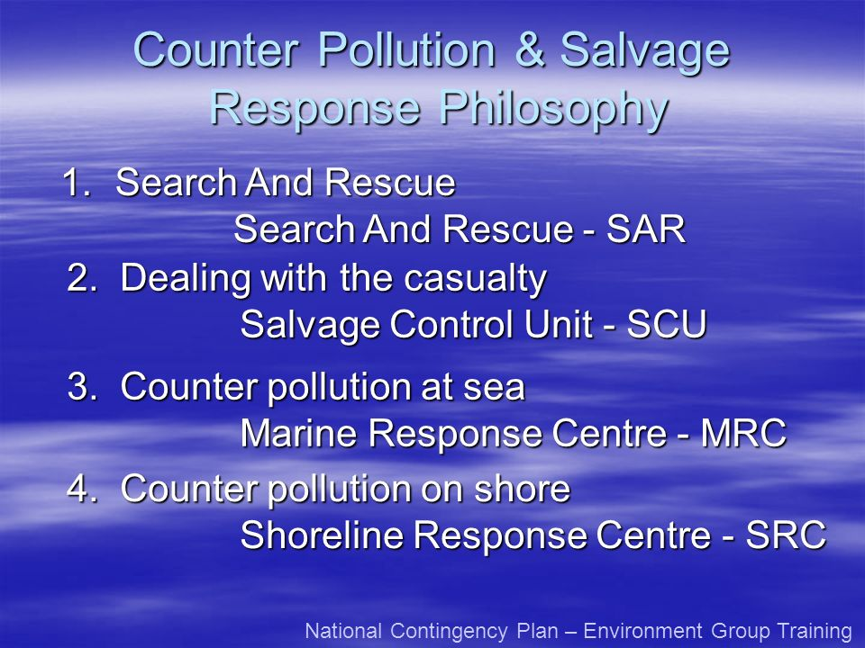 Counter Pollution & Salvage Response Philosophy 2.