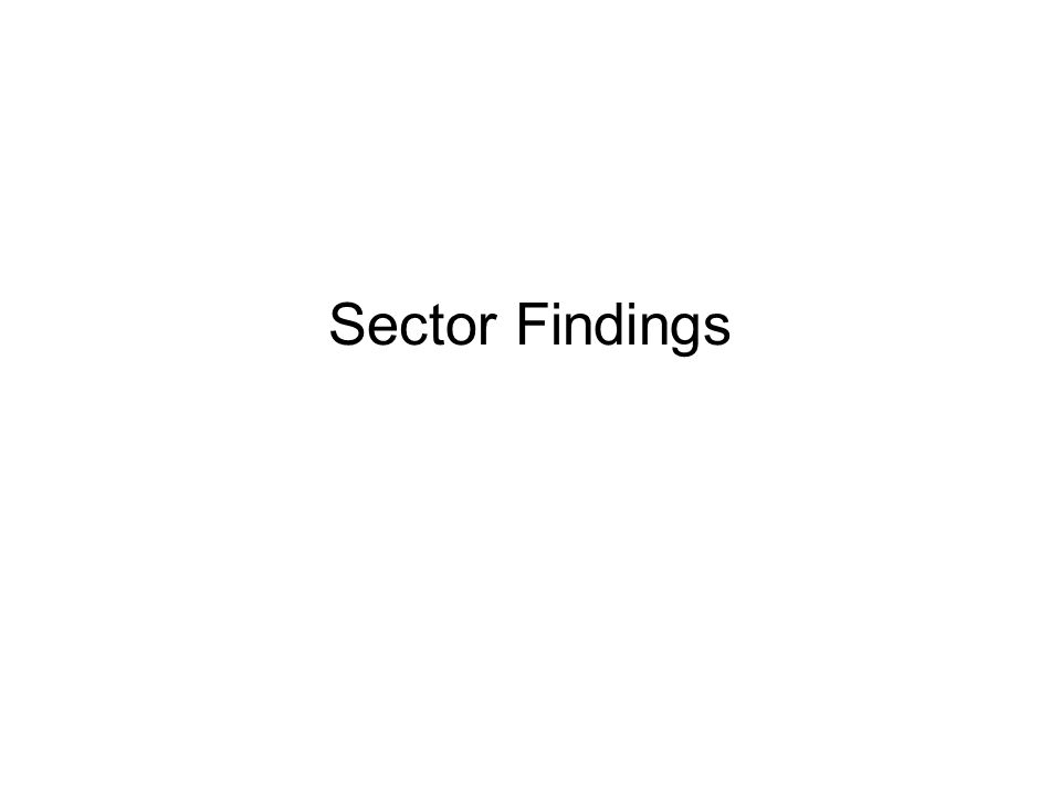 Sector Findings