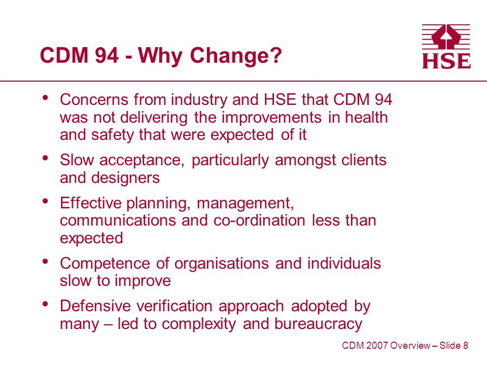 CDM 94 - Why Change.