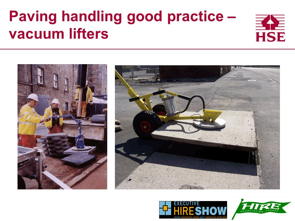 Paving handling good practice – vacuum lifters
